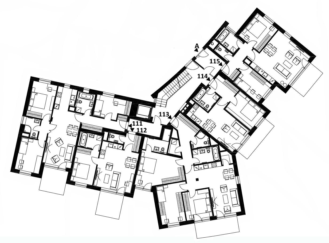 Budova 1 - 1. poschodí