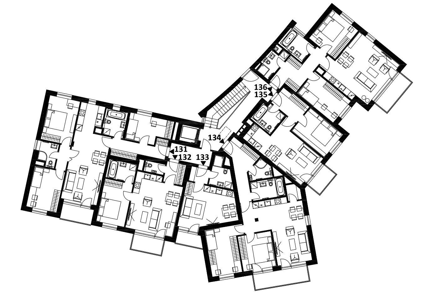 Budova 1 - 3. poschodí