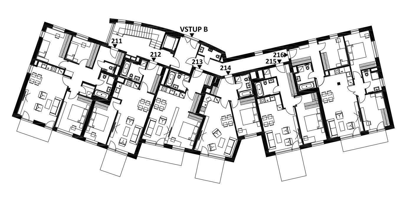 Budova 2 - 1. poschodí
