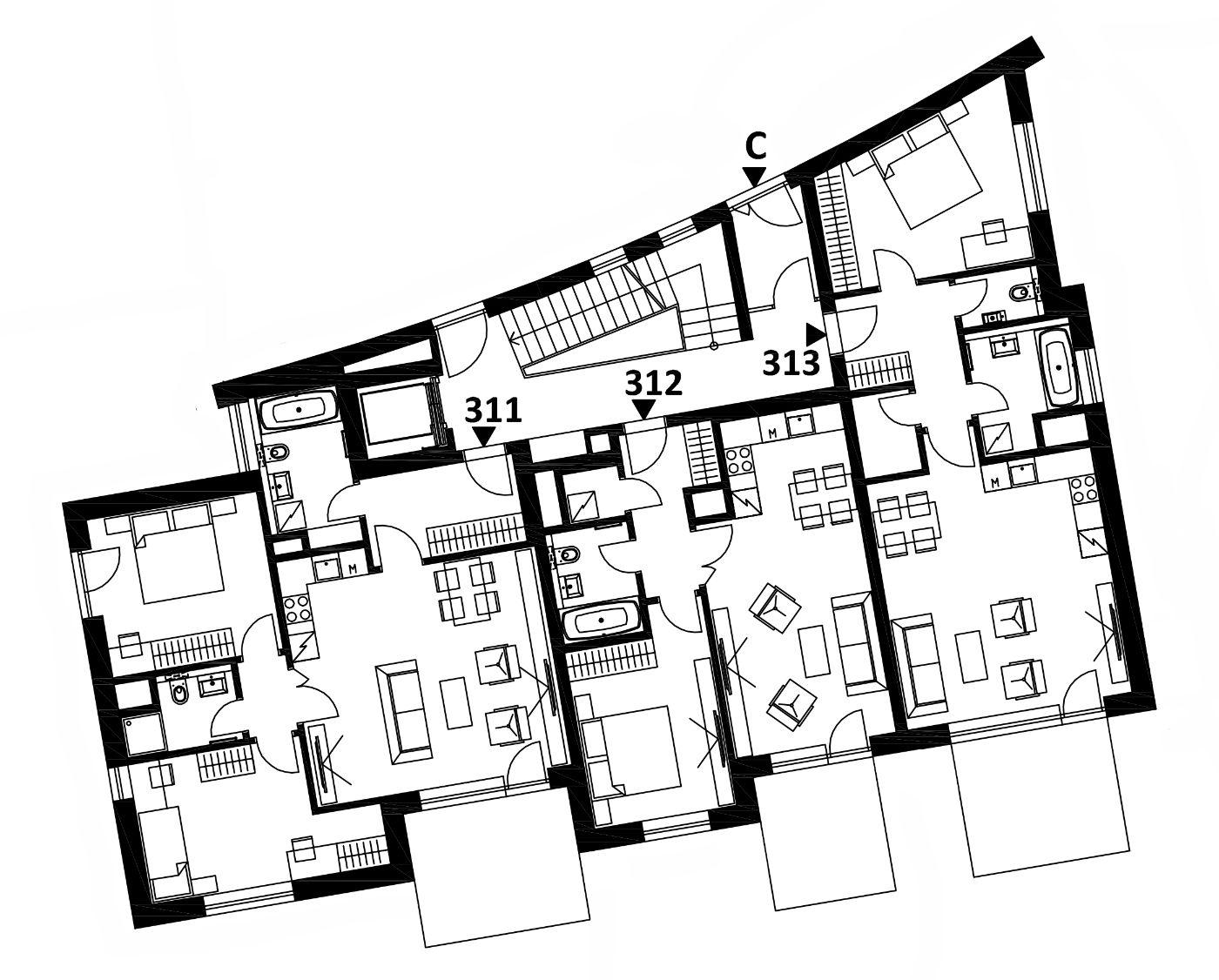 Budova 3 - 1. poschodí